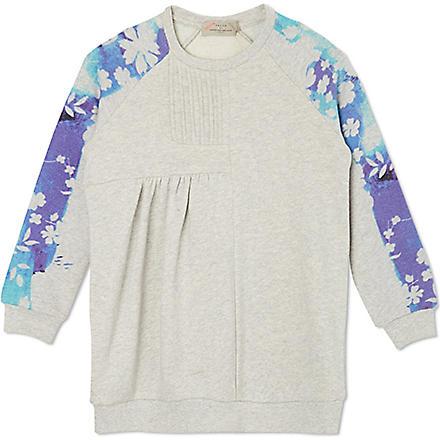 PREEN Floral-sleeve sweatshirt 2-8 years (Blue