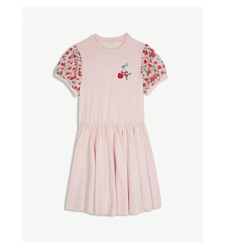 FENDI Cherry print cotton dress 4-14 years (Pink