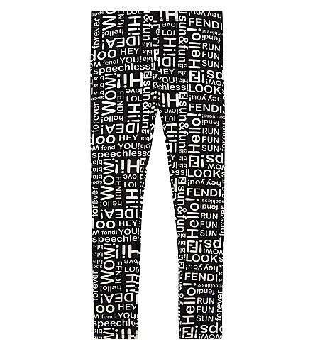 FENDI Phrase cotton leggings 4-14 years (F0ze7