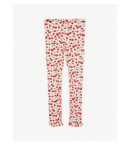 FENDI Cherry print cotton-jersey leggings 4-14 years (Pink