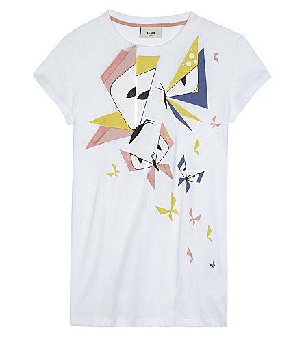 FENDI Monster butterfly cotton T-shirt 4-14 years (F0qa0