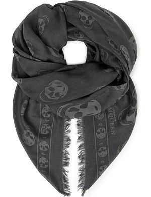ALEXANDER MCQUEEN Pashmina skull scarf