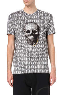 ALEXANDER MCQUEEN Stained glass skull-print t-shirt