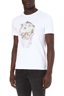 ALEXANDER MCQUEEN Lady and skull-print t-shirt