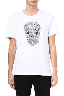 ALEXANDER MCQUEEN Embroidered stained glass skull t-shirt