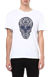 ALEXANDER MCQUEEN Stained glass skull t-shirt