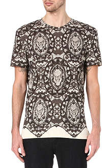 ALEXANDER MCQUEEN Lace and skull-print t-shirt