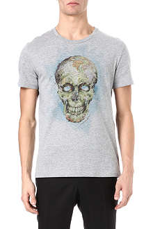 ALEXANDER MCQUEEN World Map Skull print t-shirt