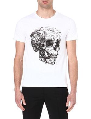 ALEXANDER MCQUEEN Flower Skull t-shirt