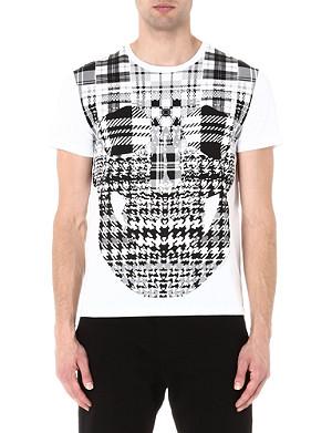 ALEXANDER MCQUEEN Plaid skull t-shirt