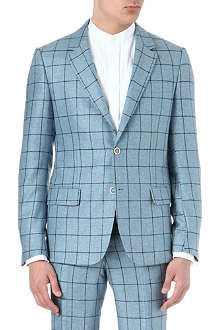ALEXANDER MCQUEEN Woven silk checked jacket