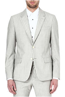 ALEXANDER MCQUEEN Striped single-breasted blazer