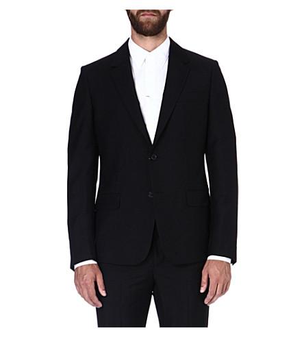 ALEXANDER MCQUEEN Wool-blend suit jacket (Black
