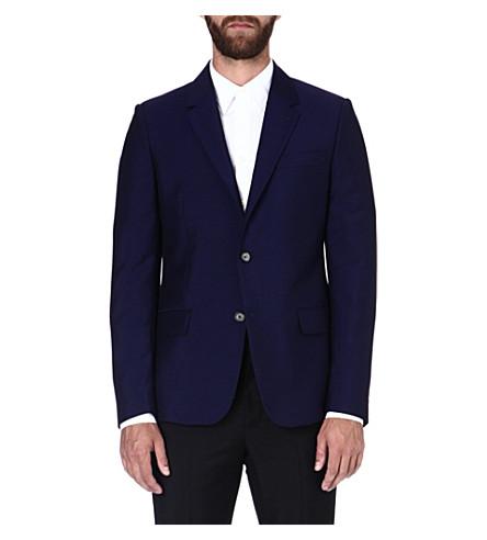ALEXANDER MCQUEEN Wool-blend suit jacket (Navy