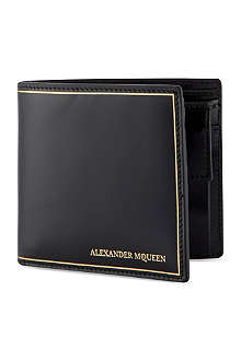 ALEXANDER MCQUEEN Billfold leather wallet