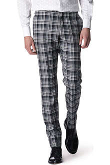 ALEXANDER MCQUEEN Checked wool trousers