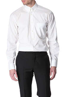 ALEXANDER MCQUEEN Embroidered-skull slim fit single cuff shirt