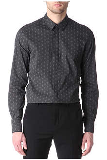 ALEXANDER MCQUEEN Skull-print slim-fit single-cuff shirt