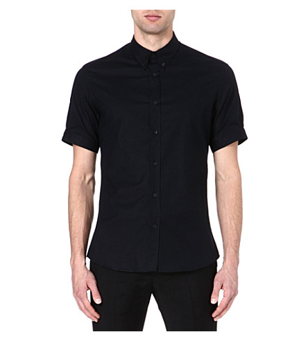 ALEXANDER MCQUEEN Brad Pitt stretch-cotton shirt (Black
