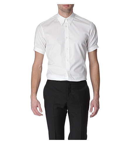 ALEXANDER MCQUEEN Button-down collar slim fit shirt (White
