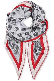 ALEXANDER MCQUEEN Skull triangle scarf