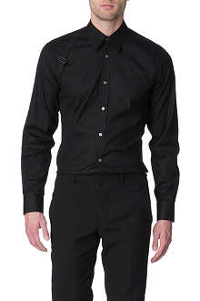 ALEXANDER MCQUEEN Harness slim fit single cuff shirt
