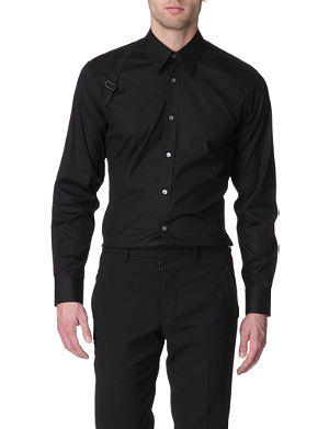 ALEXANDER MCQUEEN Harness slim-fit single-cuff shirt