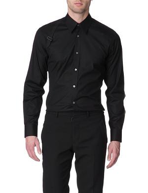 ALEXANDER MCQUEEN Harness slim fit single cuff shirt