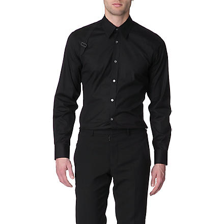 ALEXANDER MCQUEEN Harness slim fit single cuff shirt (Black