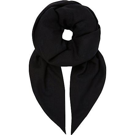 ALEXANDER MCQUEEN Woven skull scarf (Black