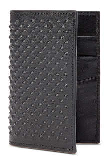 ALEXANDER MCQUEEN Textured-leather card case