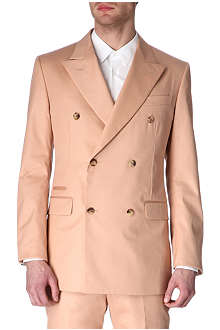 ALEXANDER MCQUEEN Double-breasted peak-lapel blazer