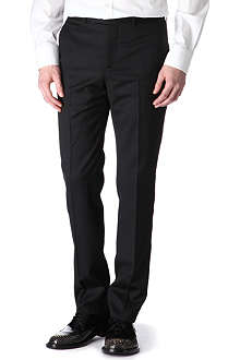 ALEXANDER MCQUEEN Satin-striped tuxedo trousers