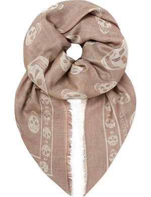 ALEXANDER MCQUEEN Skull border scarf