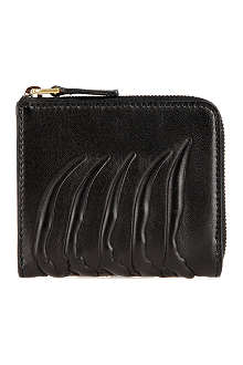 ALEXANDER MCQUEEN Spine-embossed coin wallet