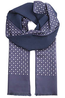 ALEXANDER MCQUEEN Skull and dot scarf