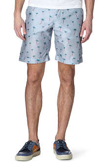 ALEXANDER MCQUEEN Palm tree-print shorts