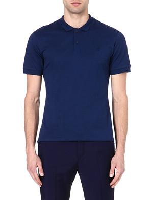ALEXANDER MCQUEEN Skull-embroidered polo shirt