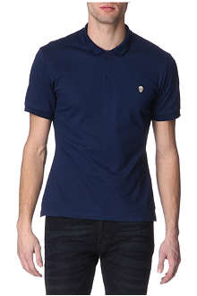 ALEXANDER MCQUEEN Embroidered-skull cotton-piqué polo shirt