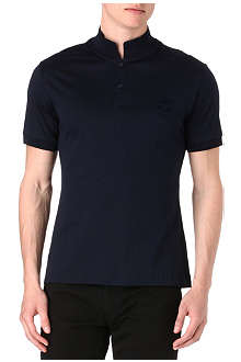 ALEXANDER MCQUEEN Mercirised skull-appliqué polo shirt