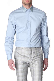 ALEXANDER MCQUEEN Metallic-collar slim-fit shirt