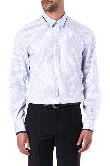ALEXANDER MCQUEEN Double-collar single-cuffs striped shirt