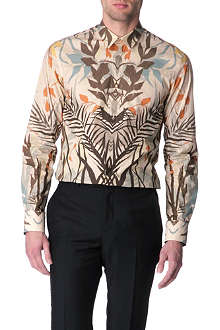 ALEXANDER MCQUEEN Patterned slim fit single cuff shirt