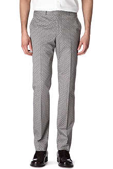 ALEXANDER MCQUEEN Cross-grid trousers