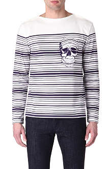 ALEXANDER MCQUEEN Barcode striped-skull top