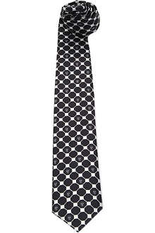 ALEXANDER MCQUEEN Hex and skull silk tie
