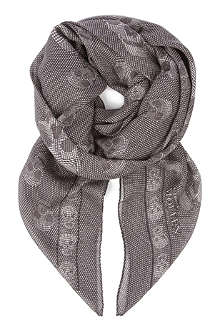 ALEXANDER MCQUEEN Repeated mix-print skull scarf