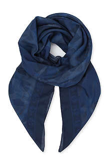 ALEXANDER MCQUEEN Skull and camouflage-print cotton and cashmere-blend scarf