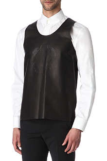 ALEXANDER MCQUEEN Perforated-skull leather vest
