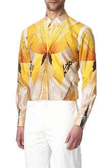 ALEXANDER MCQUEEN Dragonfly-print slim fit single cuff shirt